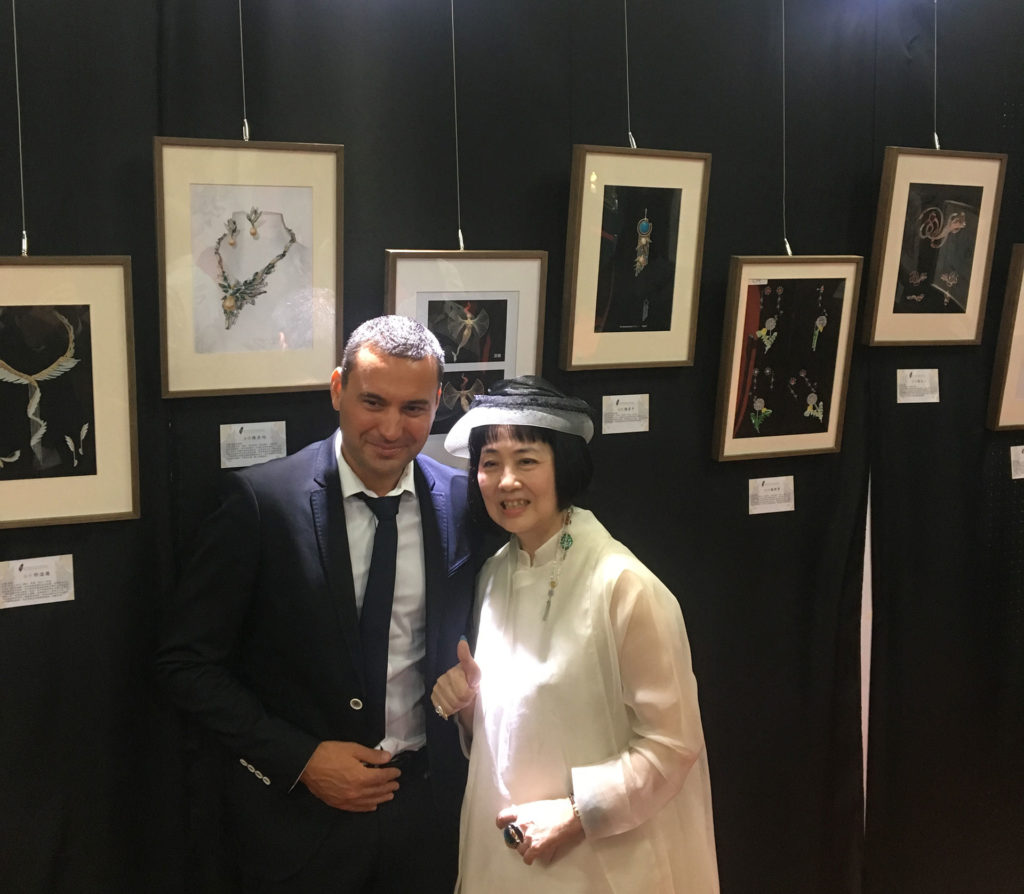 TCJDA - David and Miss Wang Yue Yan at the International Jewlry Contest in Taipei 2017