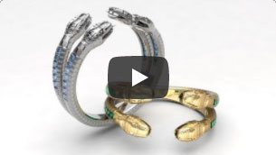 organic desgin applied on advanced jewelry