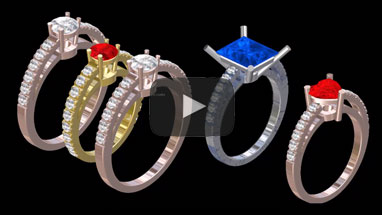 Design many rings in few clics thanks to parametric